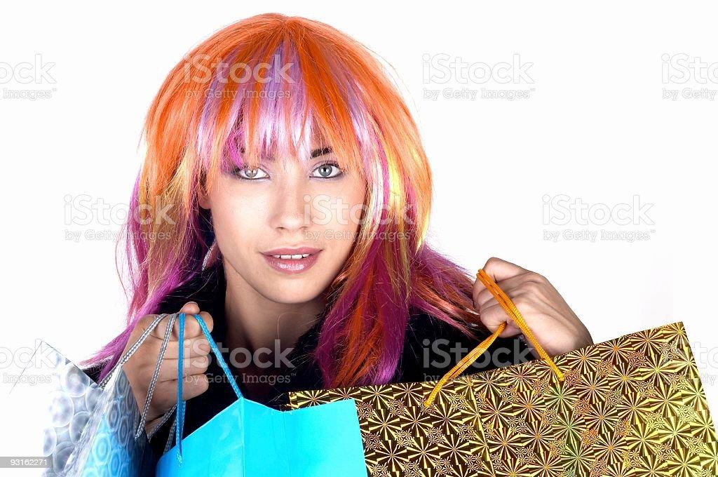 Happy shopping 06 stock photo