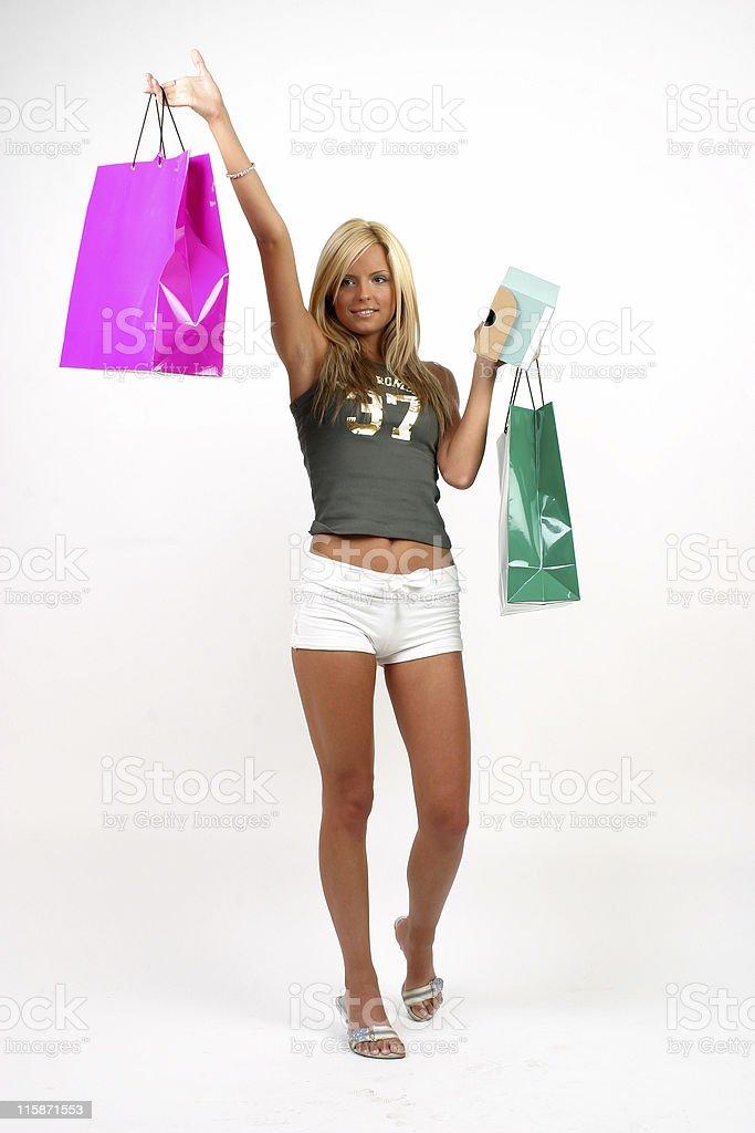 Happy shopping 07 stock photo