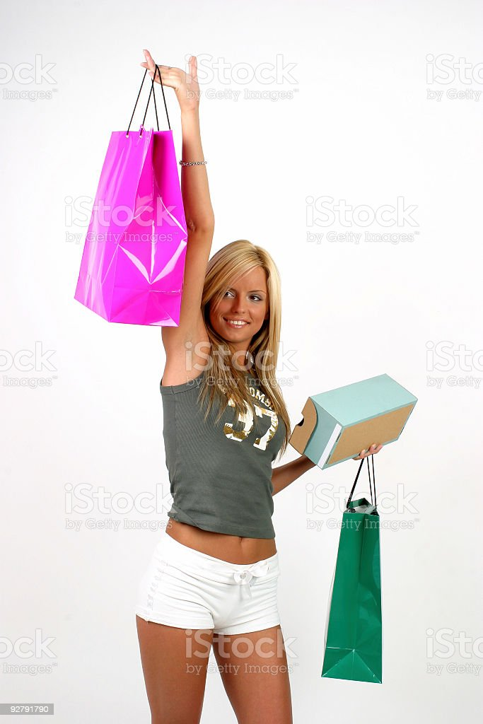 Happy shopping 08 stock photo