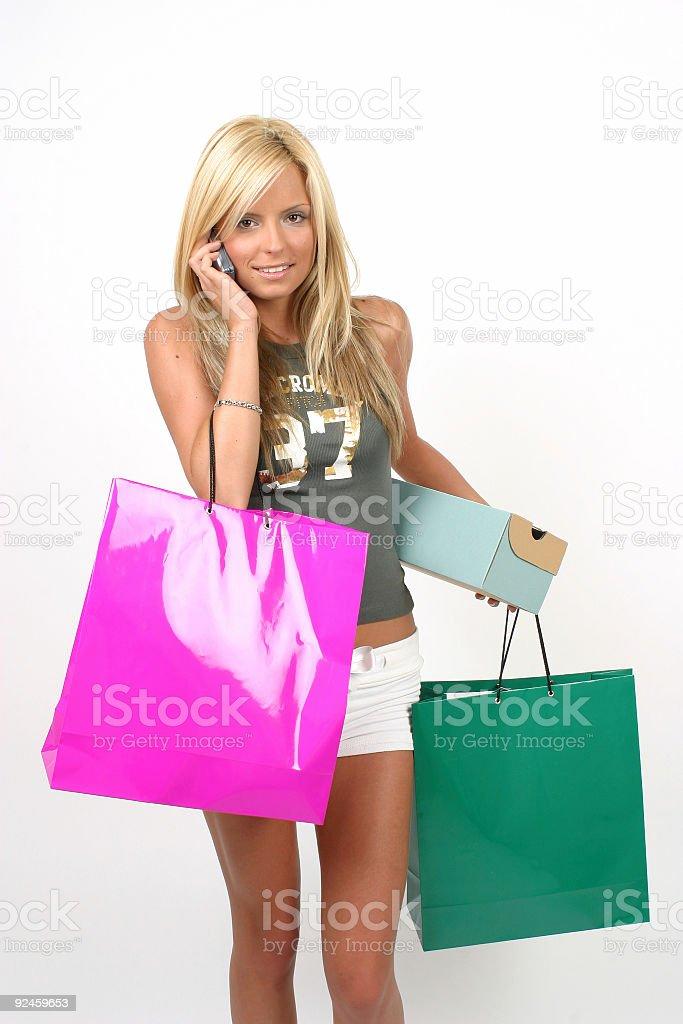 Happy shopping 09 stock photo