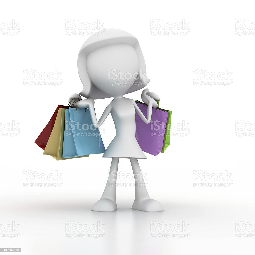 Happy Shopping royalty-free stock photo