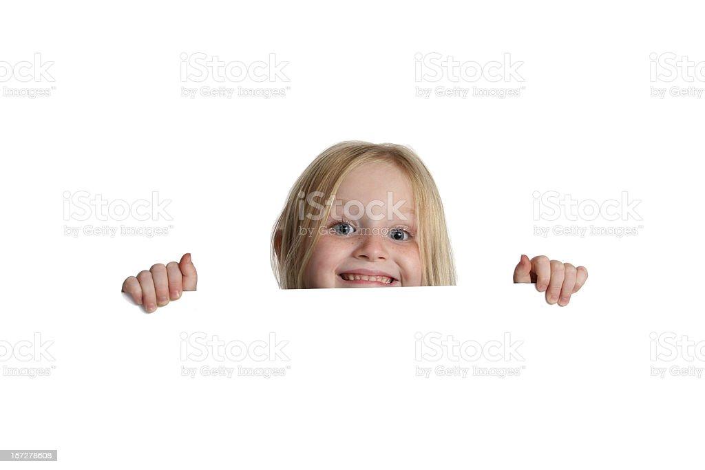 happy sign holder stock photo