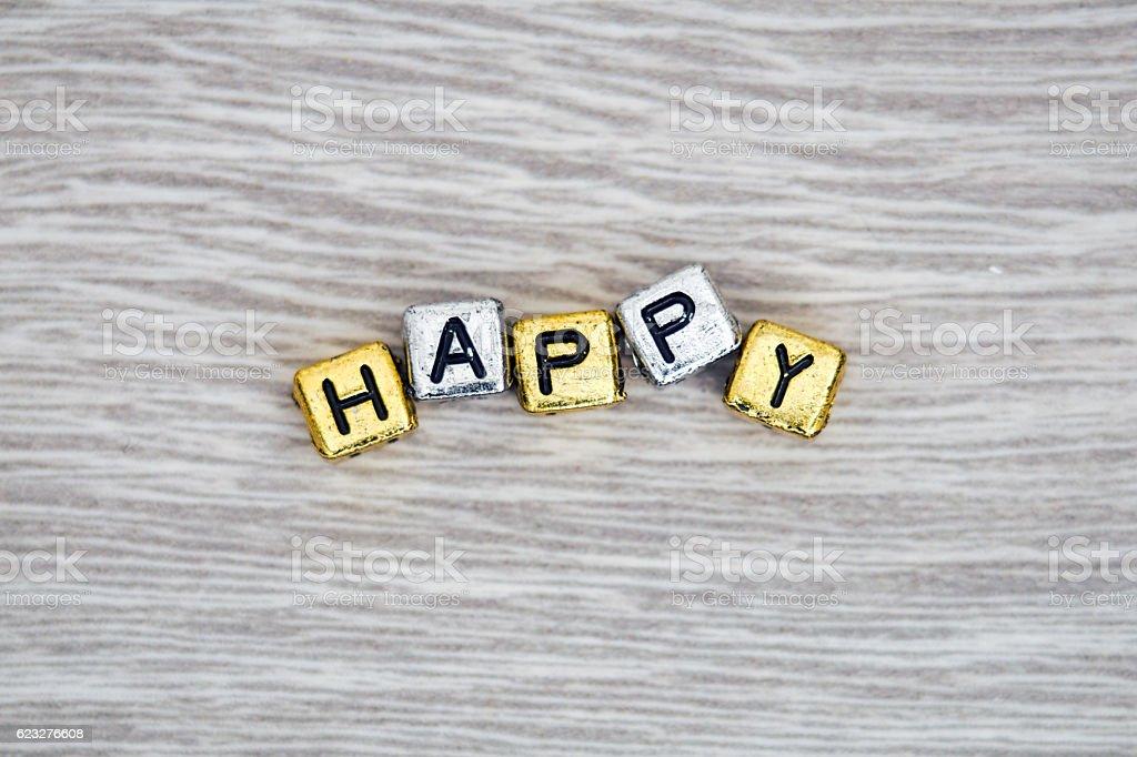 Happy sign stock photo