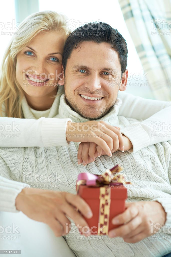 Happy sincere celebration royalty-free stock photo