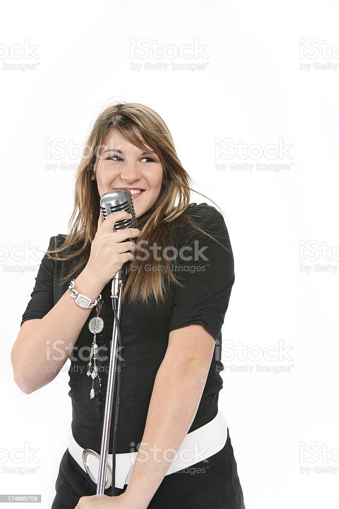happy singer royalty-free stock photo