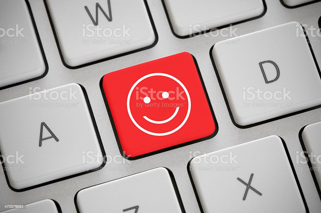 Happy smiley stock photo