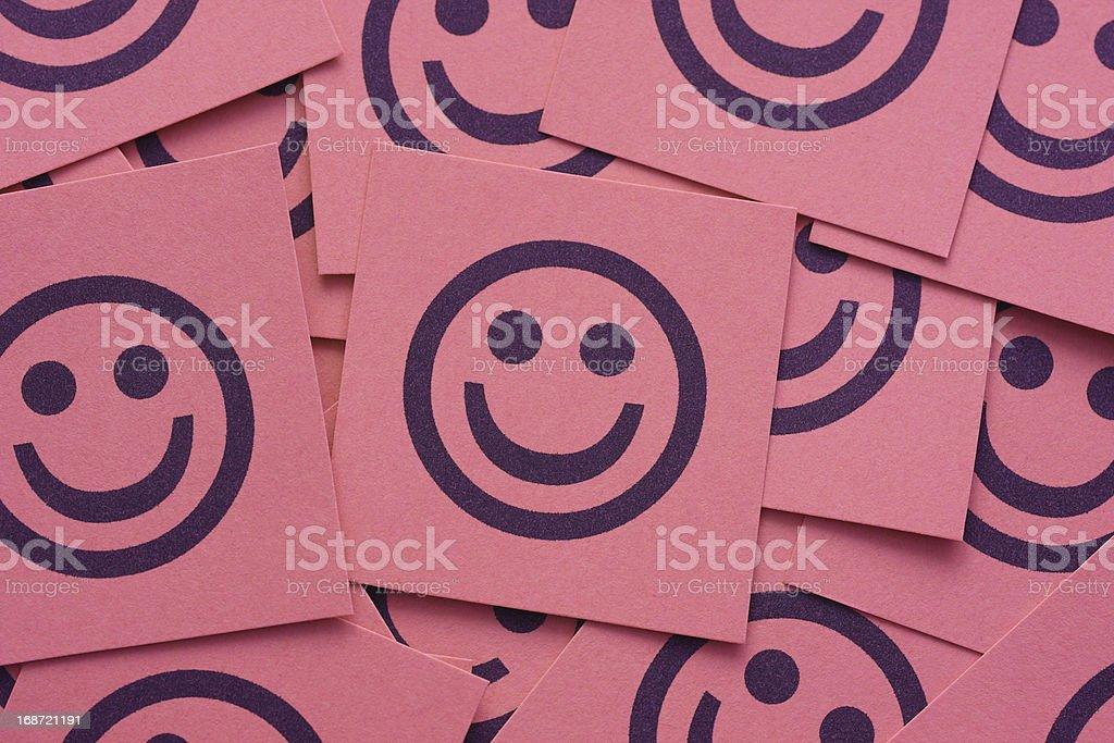 Happy smileys stock photo