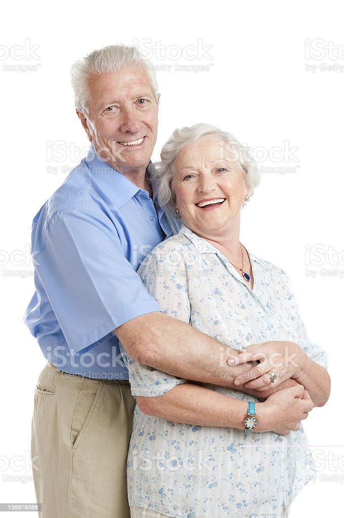 Happy smiling aged couple royalty-free stock photo