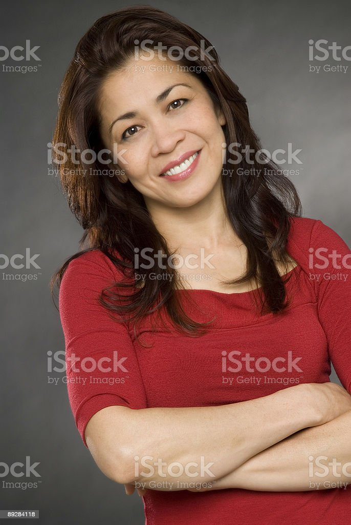 happy smiling asian woman royalty-free stock photo