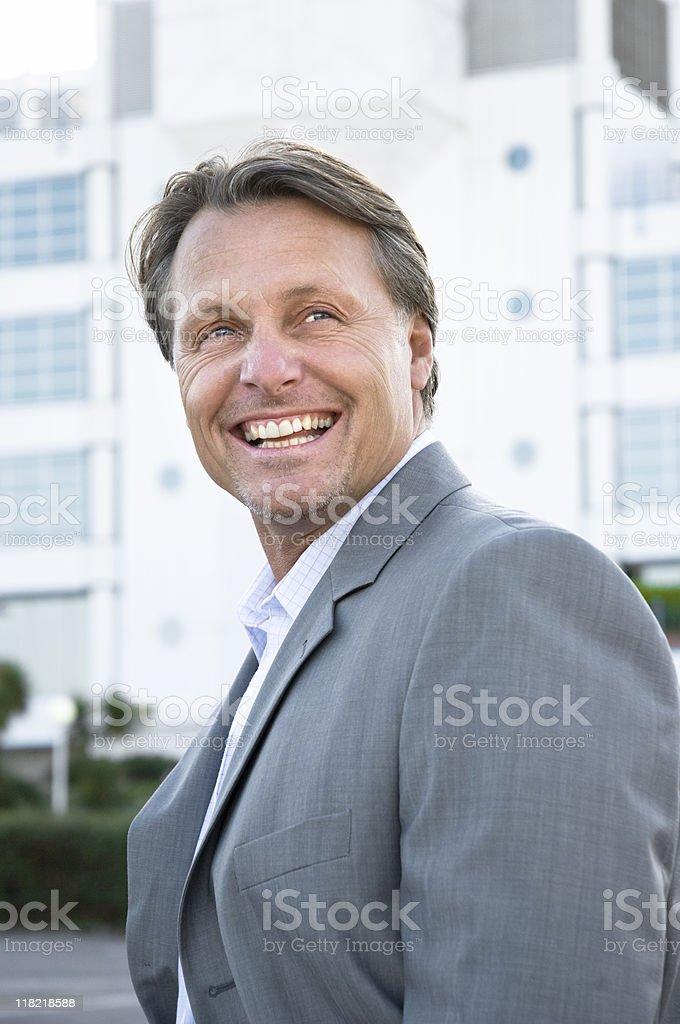 Happy smiling businessman. stock photo