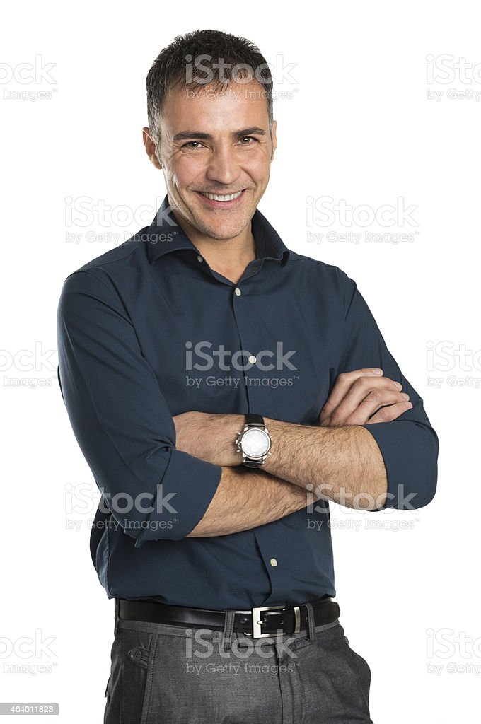 Happy Smiling Businessman stock photo