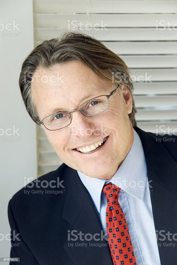 Happy smiling businessman. royalty-free stock photo