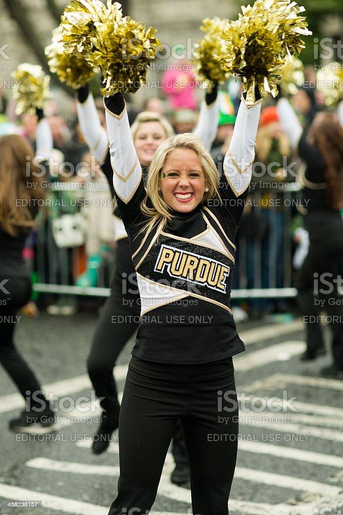 Happy Smiling Cheerleader stock photo