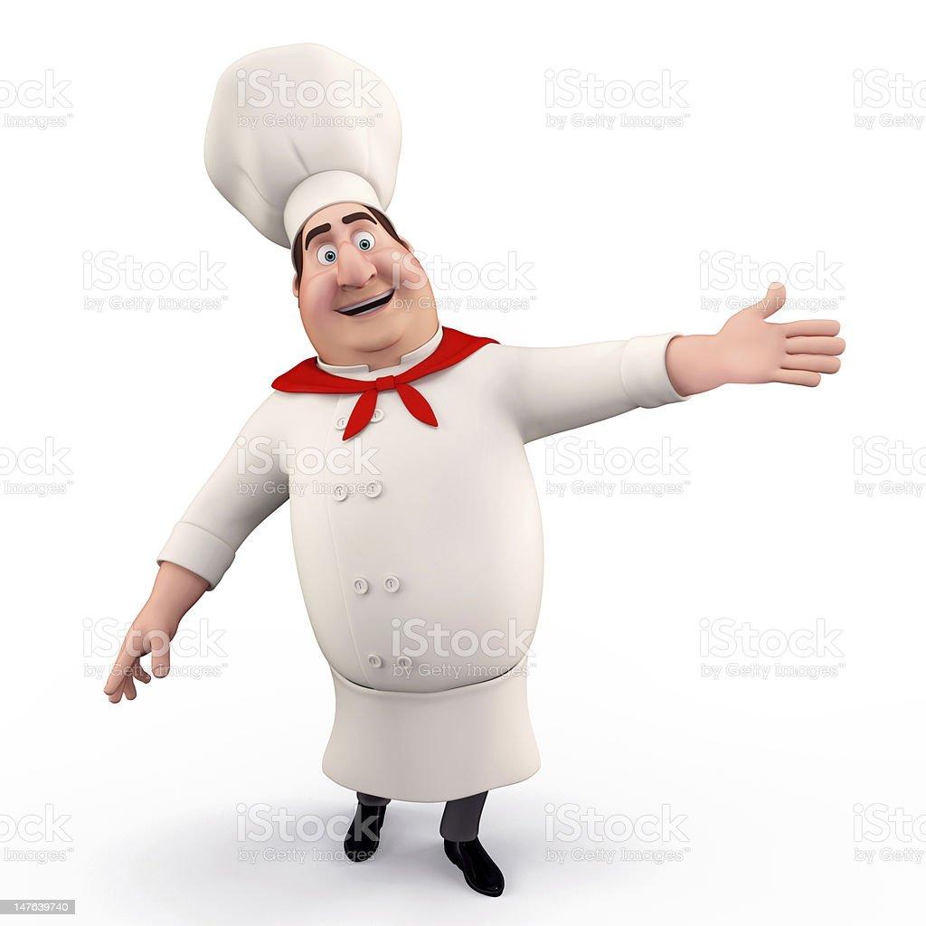 Happy smiling chef stock photo