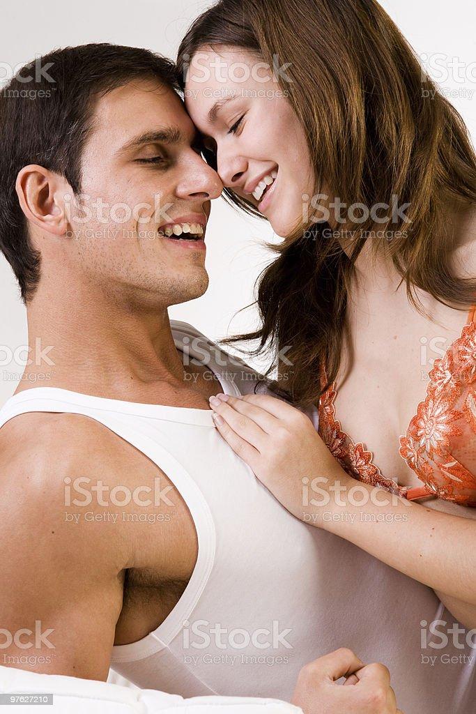 Happy smiling couple royalty-free stock photo