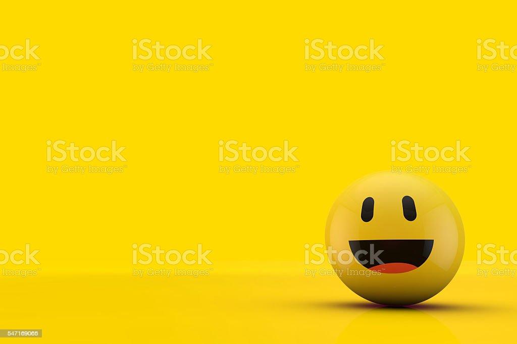Happy smiling face emoji stock photo