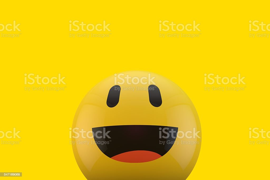 Happy smiling face emoji stock photo