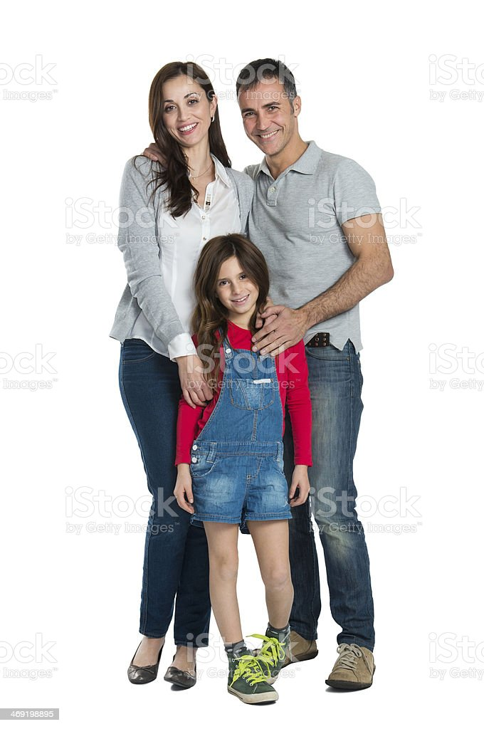 Happy Smiling Family stock photo