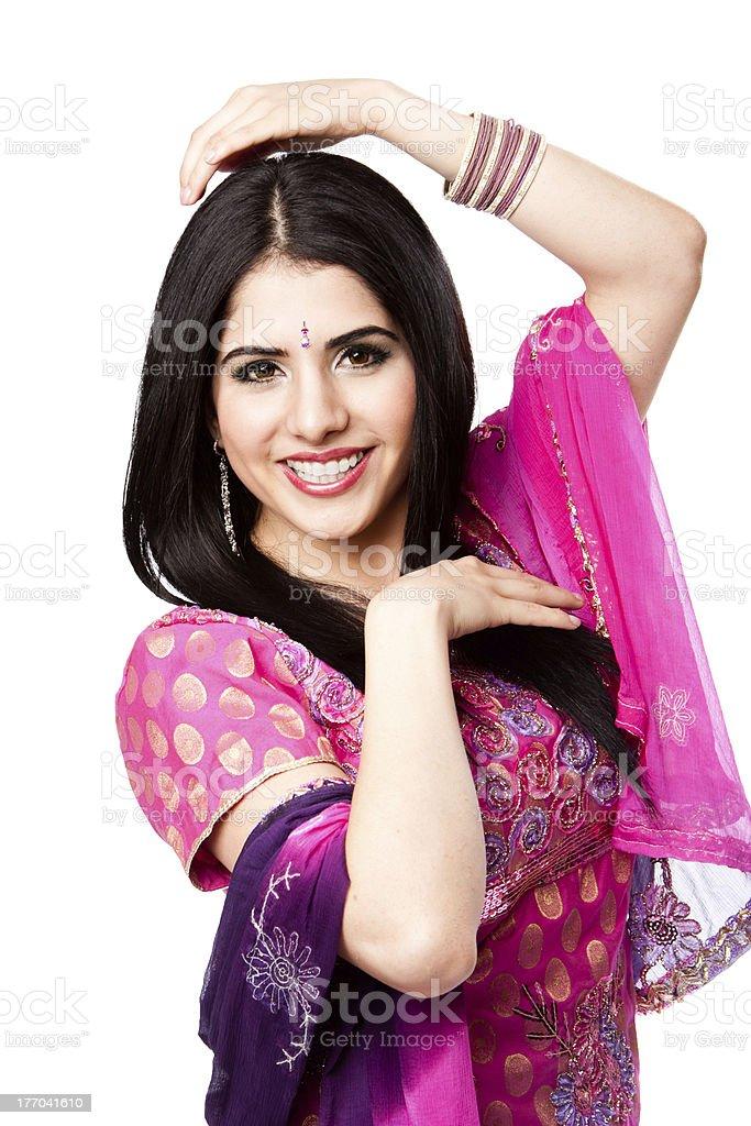 Happy smiling Indian Hindu woman royalty-free stock photo