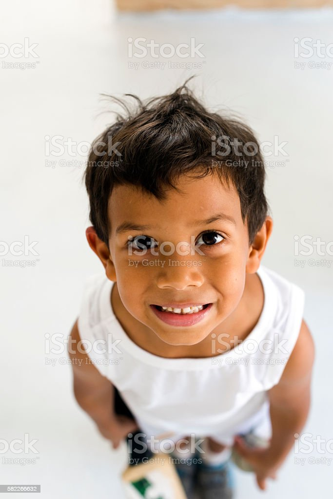 Happy Smiling Little Boy stock photo