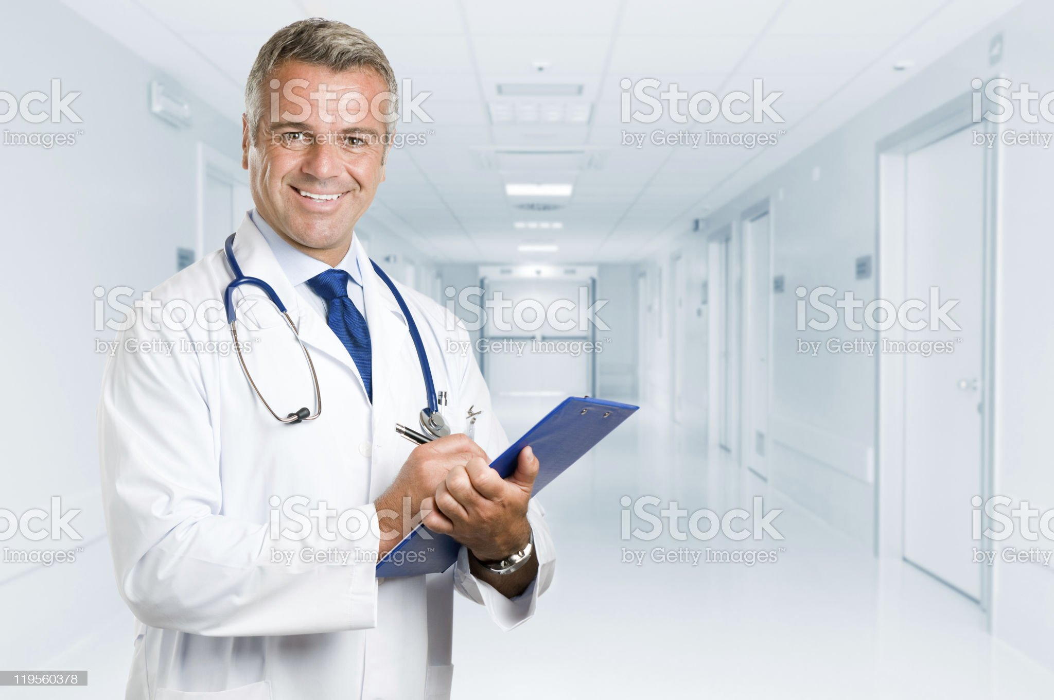 Happy smiling mature doctor royalty-free stock photo