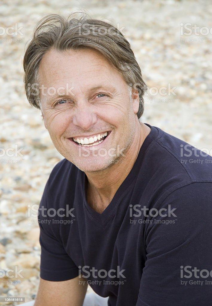 happy smiling mature man royalty-free stock photo