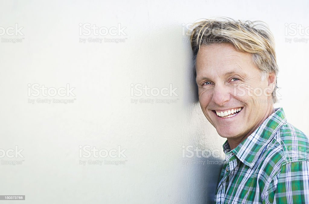 happy smiling mature man royalty-free stock photo