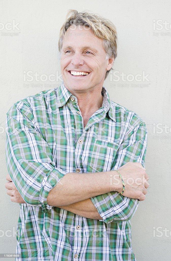 happy smiling mature man stock photo