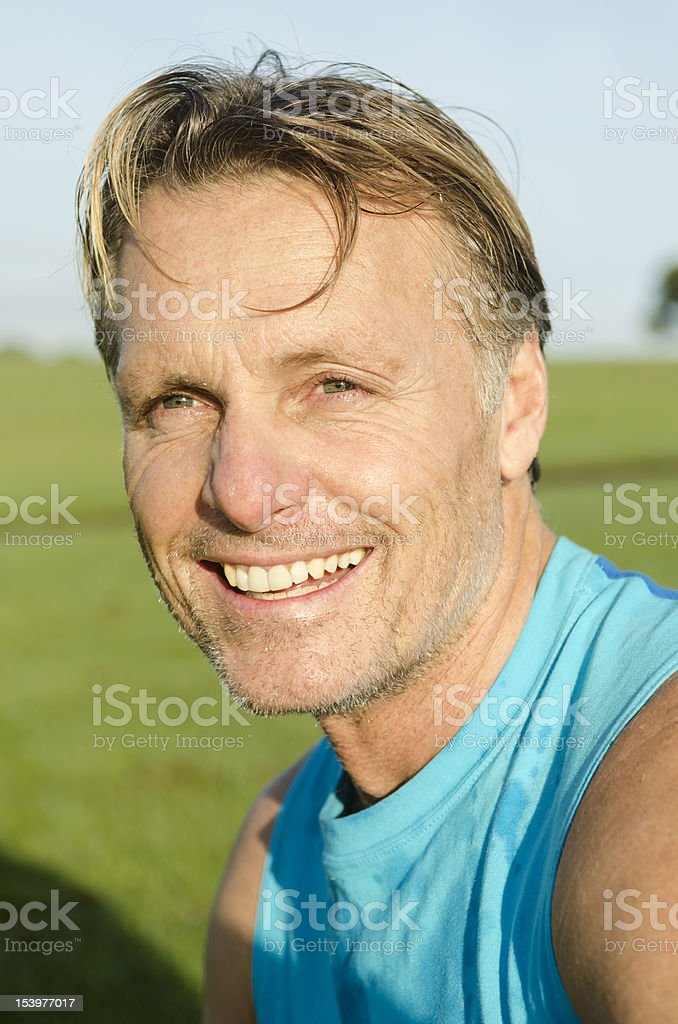 happy smiling sportsman royalty-free stock photo