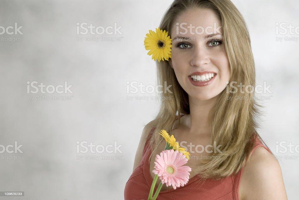 Feliz sonriente mujer foto de stock libre de derechos