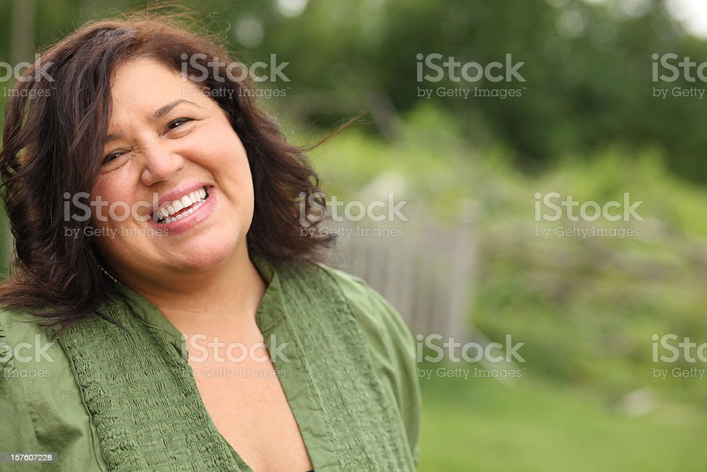 Happy Smiling Woman stock photo