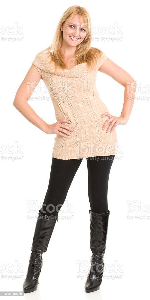 Happy Smiling Woman Posing stock photo