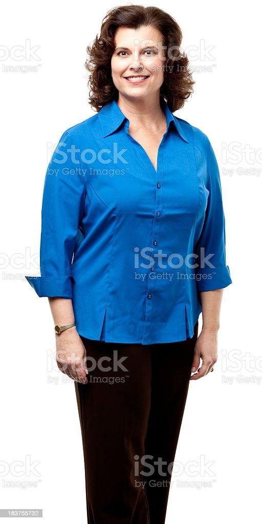 Happy Smiling Woman Three Quarter Portrait royalty-free stock photo
