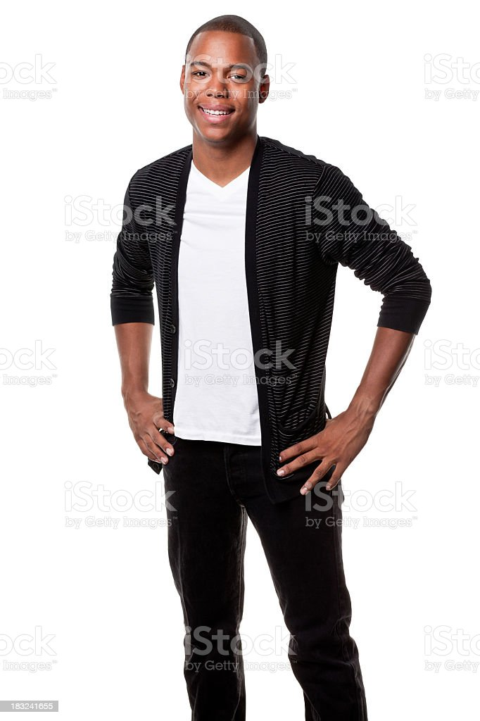 Happy Smiling Young Man Standing Portrait royalty-free stock photo