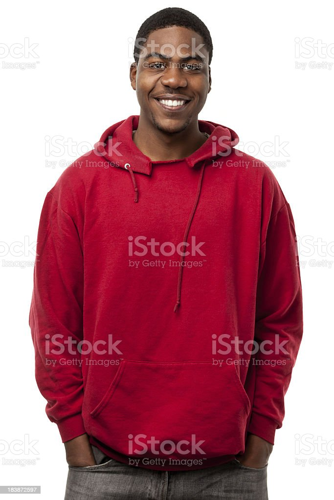 Happy Smiling Young Man Waist-up Portrait royalty-free stock photo