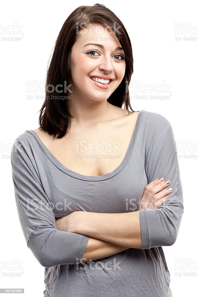 Happy Smiling Young Woman royalty-free stock photo