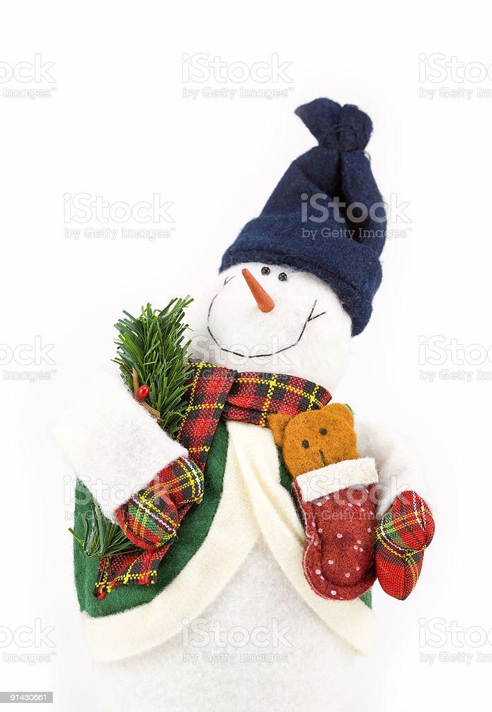 Happy Snowman 1 stock photo