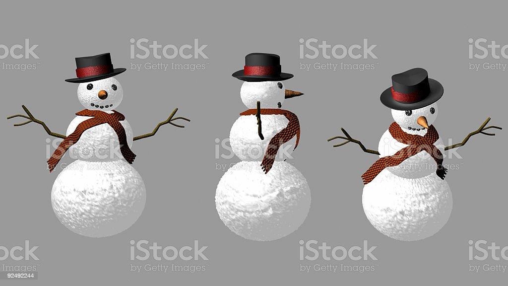 Happy Snowman royalty-free stock photo