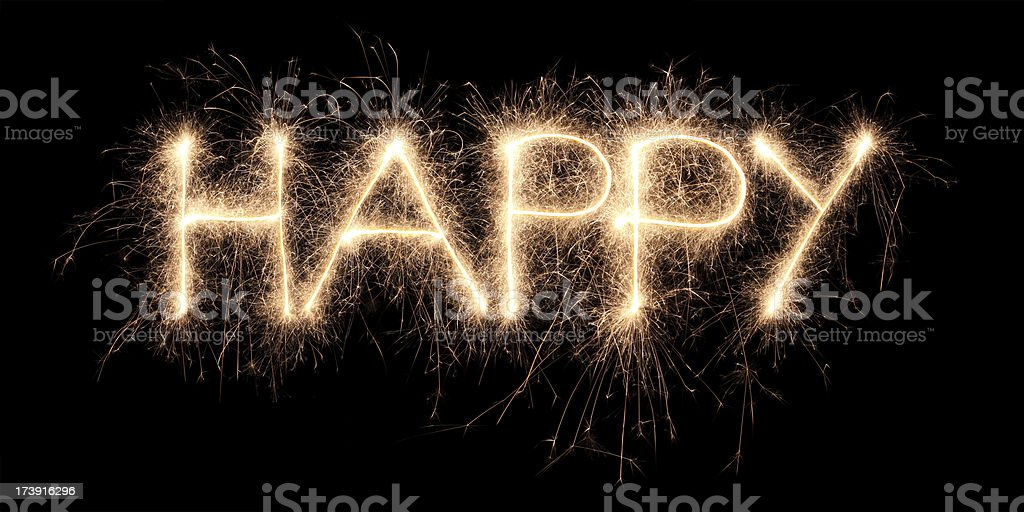 Happy sparkler royalty-free stock photo