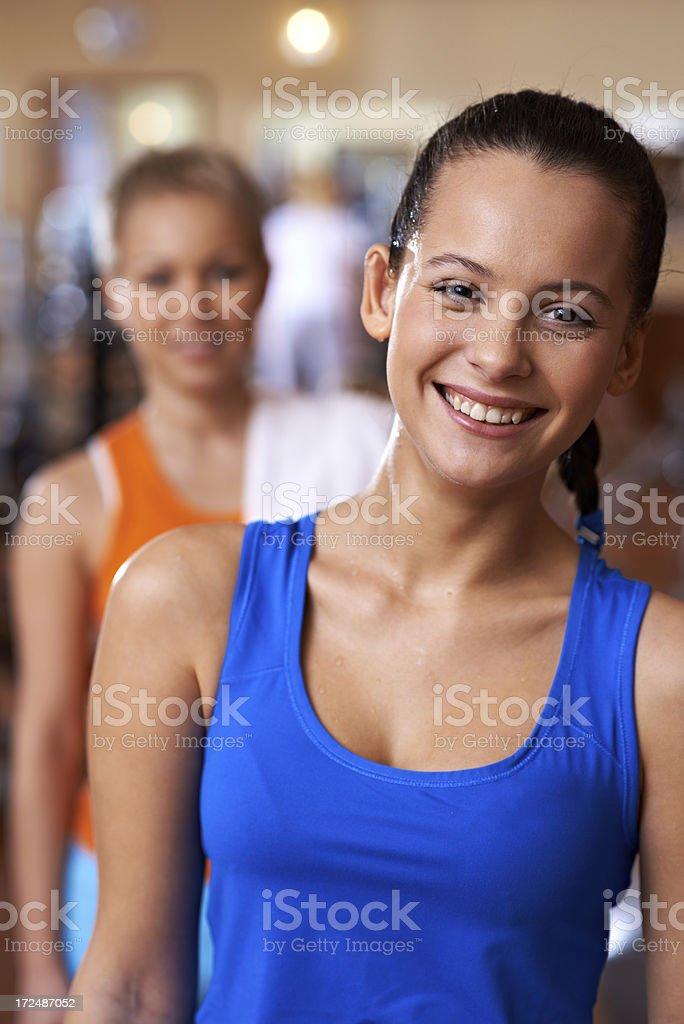 Happy sporty woman royalty-free stock photo