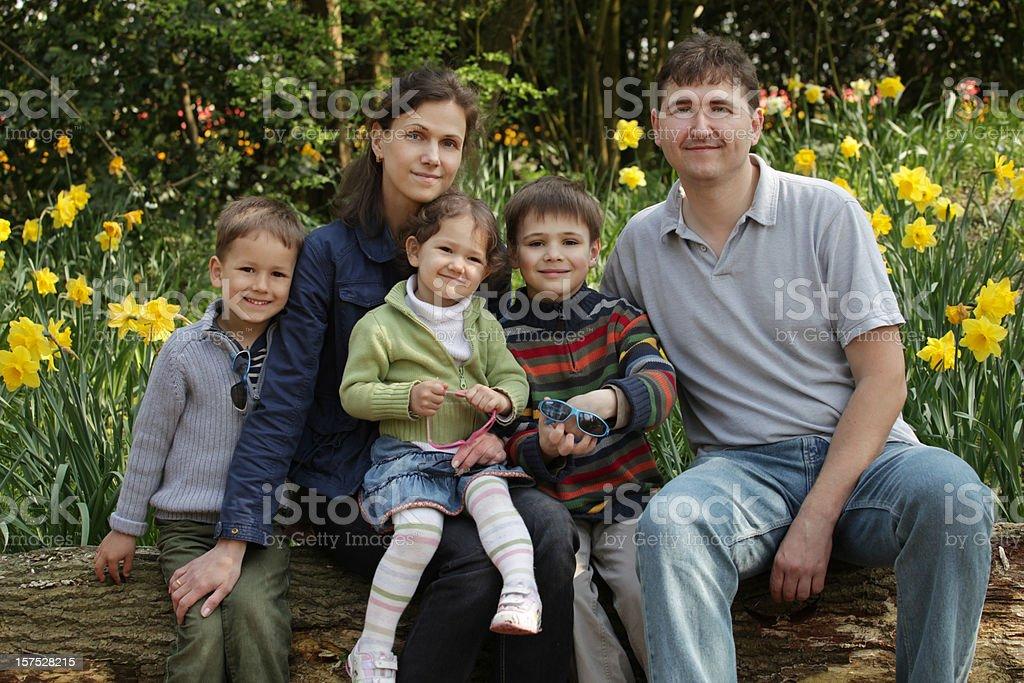 Happy spring family royalty-free stock photo
