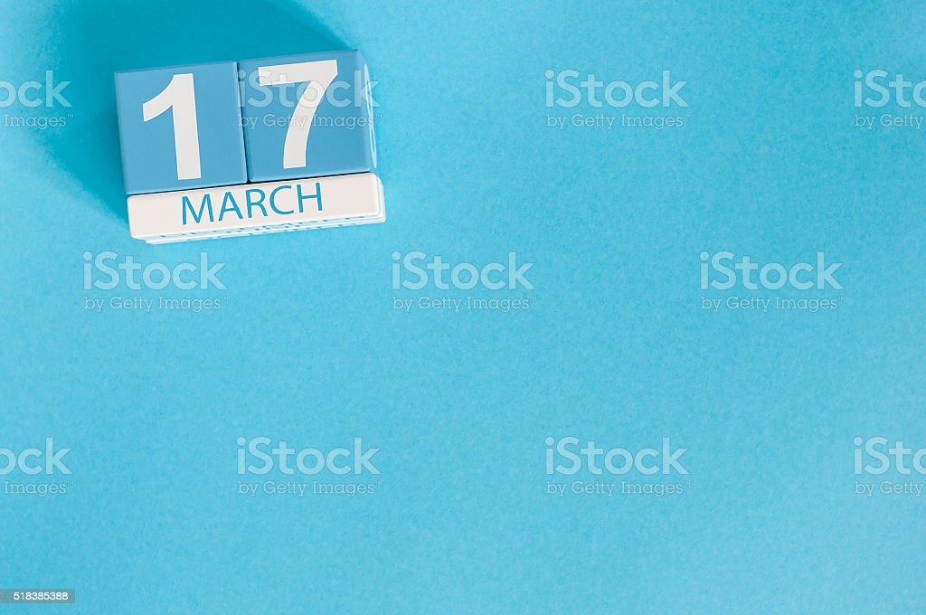 Happy St Patricks Day save the date. March 17th. Image stock photo