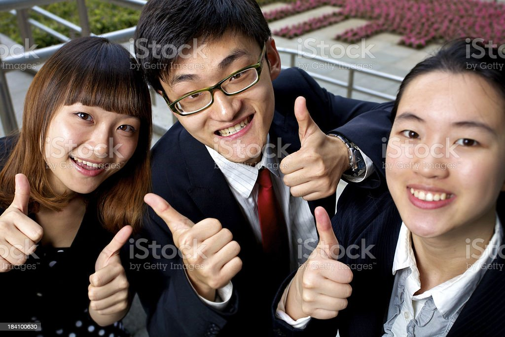 Happy staffs royalty-free stock photo
