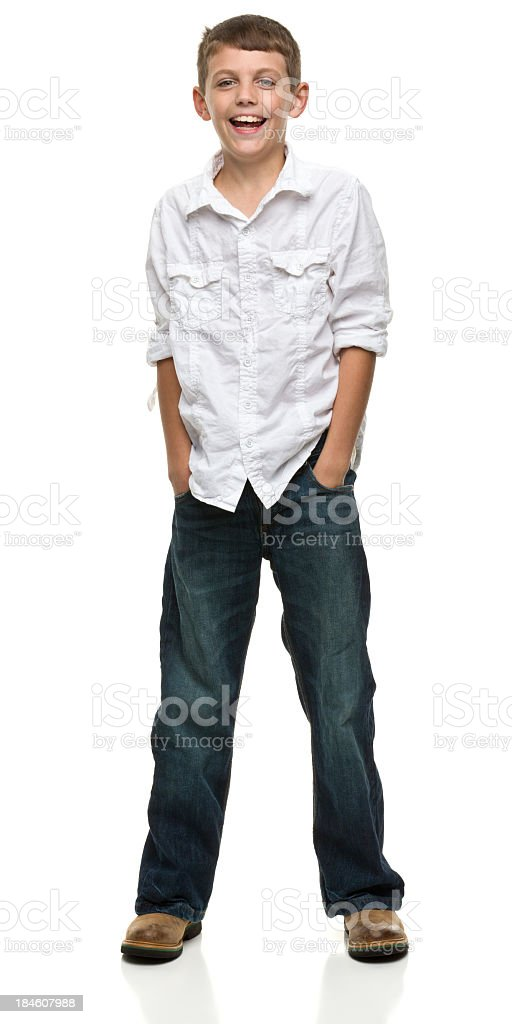 Happy Standing Boy stock photo