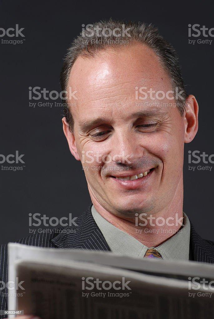 Happy Stockholder stock photo