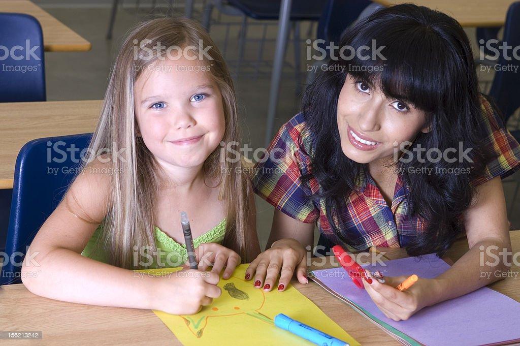 Happy Student and Teacher stock photo