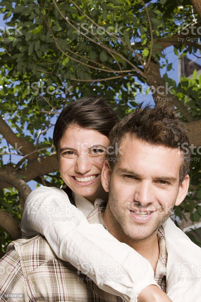 Happy student couple royalty-free stock photo
