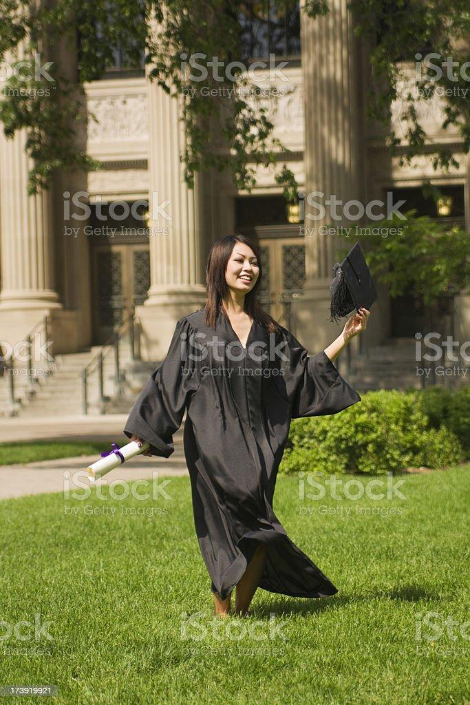 Happy Student Graduation royalty-free stock photo
