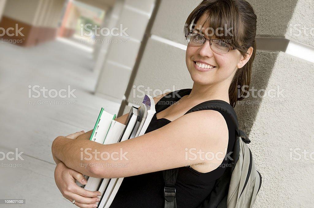 Feliz estudiante foto de stock libre de derechos