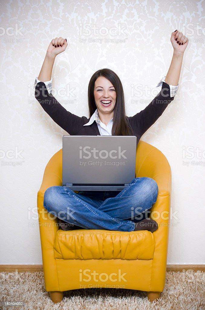 Happy Student Retro Style royalty-free stock photo